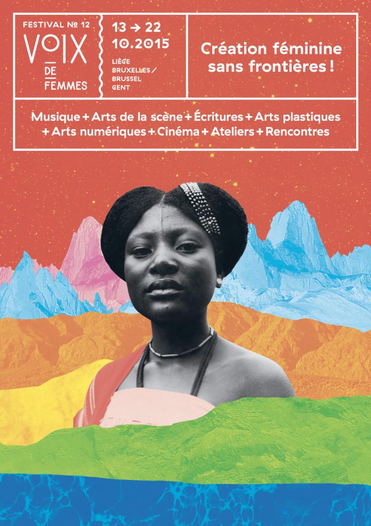 Affiche du 12e festival Voix De Femmes, par Take Shape Studio.