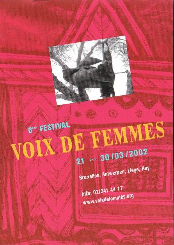 Affiche de la 6ème édition du Festival Voix de Femmes