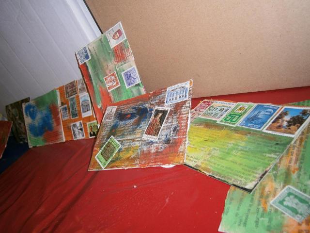 Exposition de l'atelier Art Postal