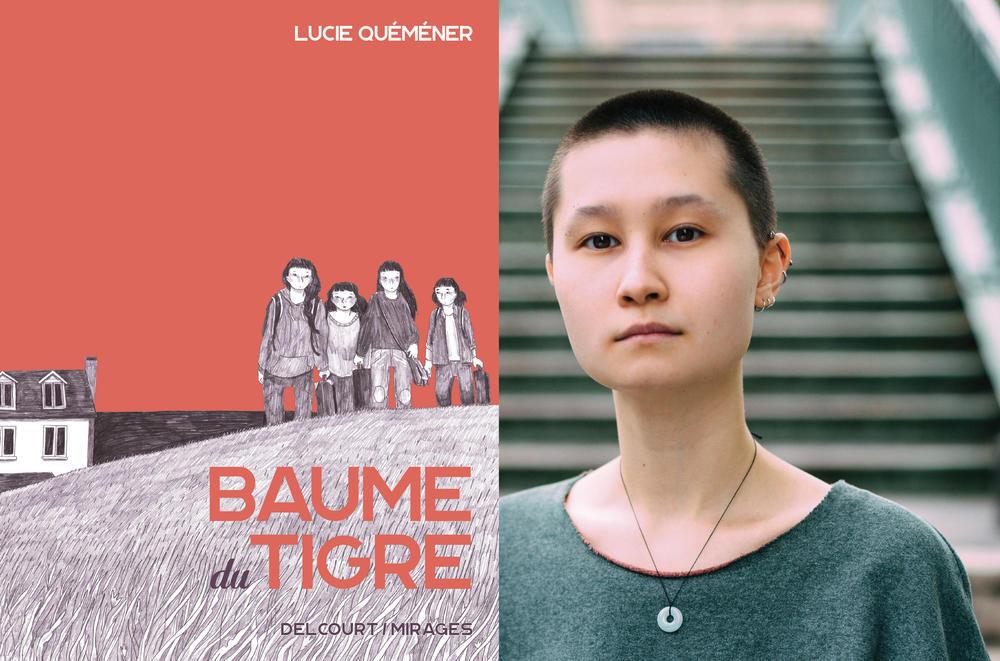 """Lucie Quémener, """"Baume du Tigre"""", 2020 (couverture et portrait de l'autrice)."""