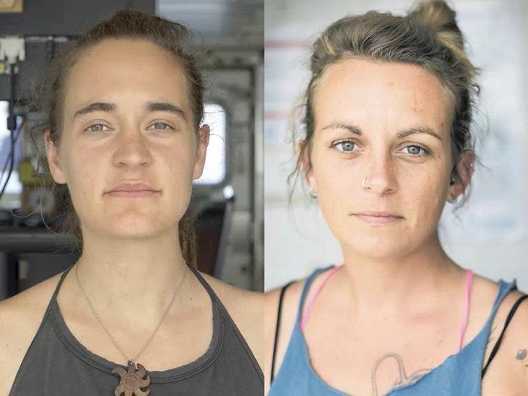 Carola Rackete et Pia Klemp, capitaines de navires de sauvetage en Méditerranée.