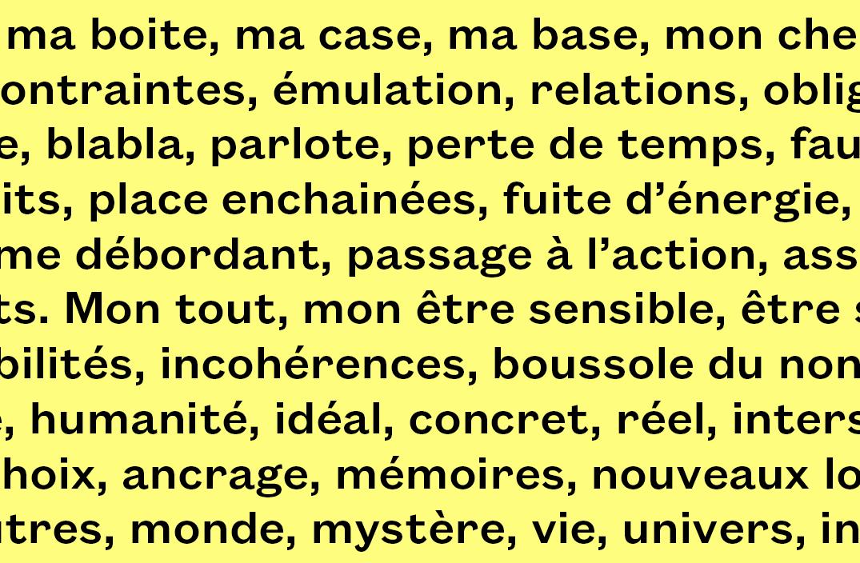 Cartographie (extrait), Bénédicte Hoen.