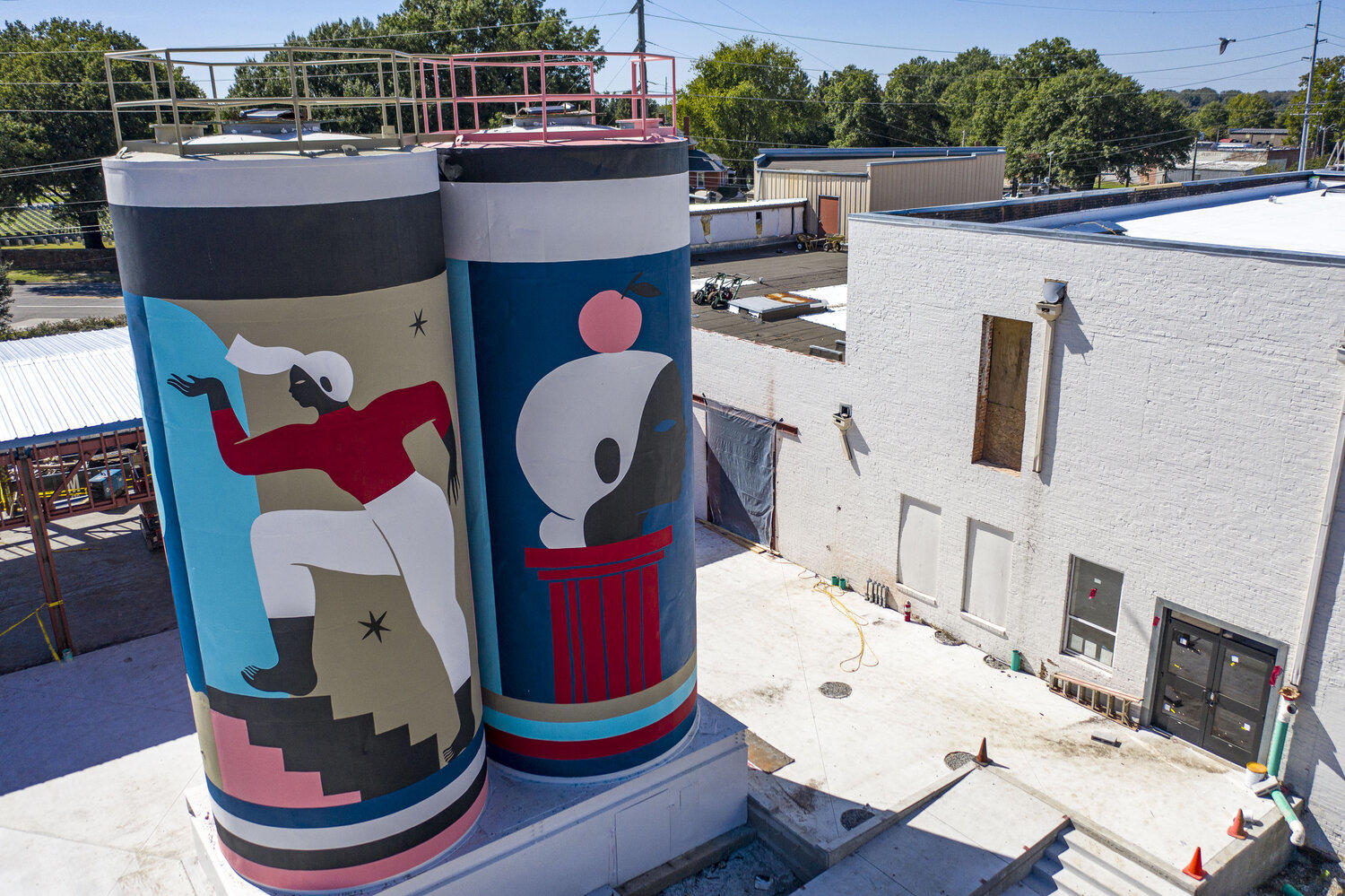 The Bakery Silos par Poni, Downtown Fort Smith, Arkansas (2019)
