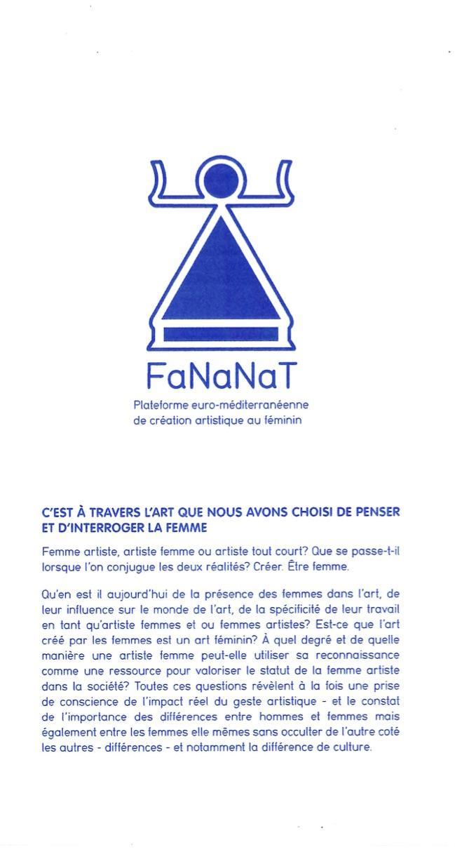 Flyer de présentation de FaNanat