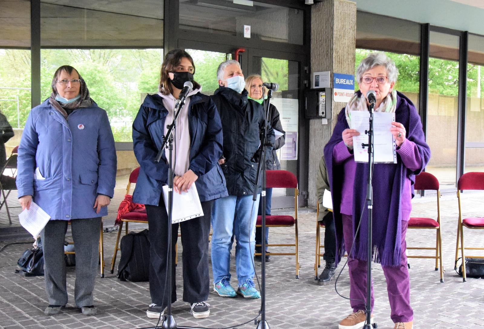 """Lecture publique le 22 mai pour l'événement """"Avec Louise Michel"""". Photo : Christian Léonet."""
