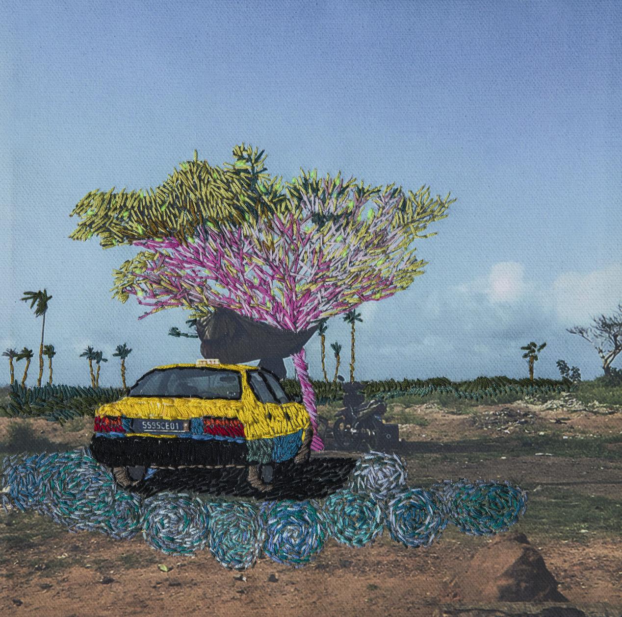 "Joana Choumali, ""Ça va aller"", 2016."