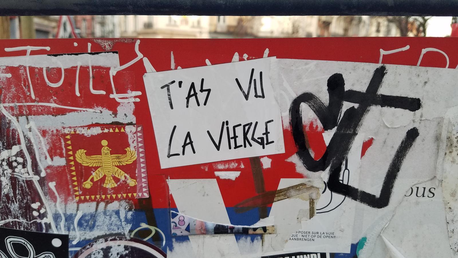 """You saw the Virgin"", April 2021. Photo: Aline Hémagi Fernande."