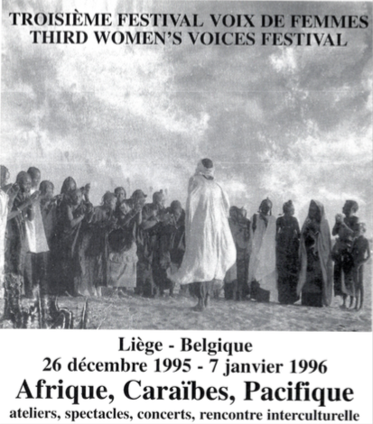 flyer du 3e Festival Voix De Femmes